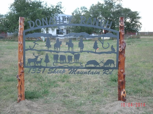 Donahey Ranch Custom Metal Sign