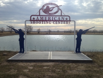 American Shooting Center - Custom Metal Store Sign - Houston, TX