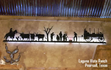 Laguna Vista Ranch - Custom Metal Art - Pearsall, TX
