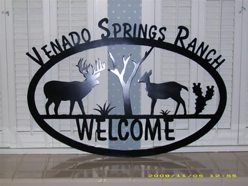Venado Springs Ranch Custom Metal Sign - Corpus Christi, TX