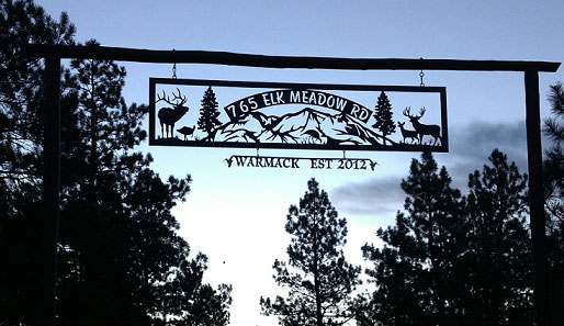 Warmack Custom Metal Art Sign in Durango, CO