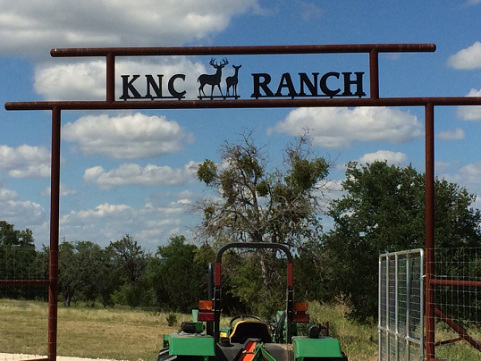 KNC Ranch Entrance Gate Sign