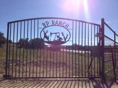 BP Ranch gate near Johnson City, Texas