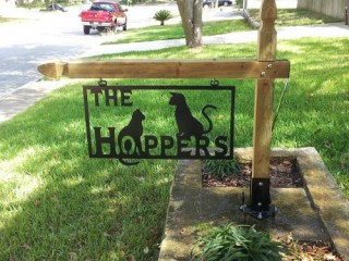 Hopper sign is now mounted