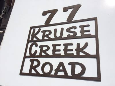 Kruse Creek Road Driveway Gate Sign