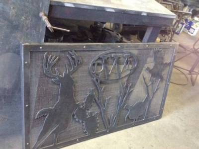 Custom Fireplace Screen