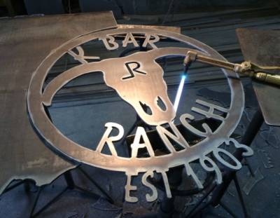 Gate sign for the K Bar Ranch