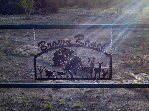 Brown Ranch Gate Sign