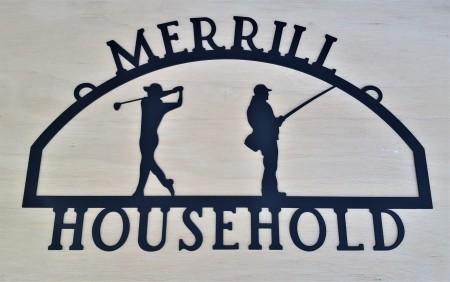 Golf / Fishing House Sign
